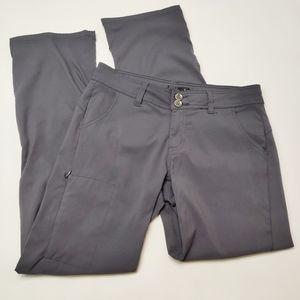 Prana Gray Long Convertible Outdoor Pants Size 6
